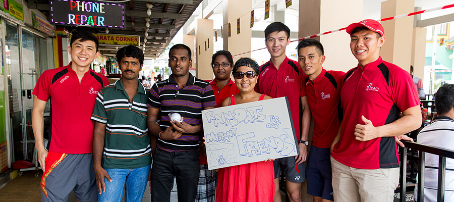 migrant workers, singapore community, donation, charity, help, pride, skm, kindness