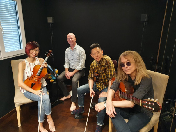 From left: Eileen Chai, Ben Kranen, Ng Yu-Ying and Ivan Lim